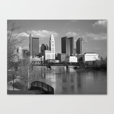 Columbus Ohio 3 - B&W Canvas Print