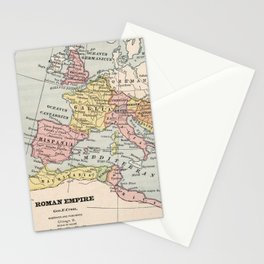 Vintage Map of The Roman Empire (1882) Stationery Cards
