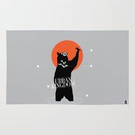 Big Bear and the Bird- Wearing Gas mask Rug