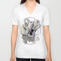 faith V-neck T-shirts featuring FAITH by mutanpride