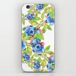 Wild Blueberries Lattice iPhone Skin