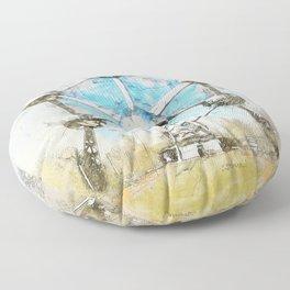Atomium Brussels, Belgium Floor Pillow