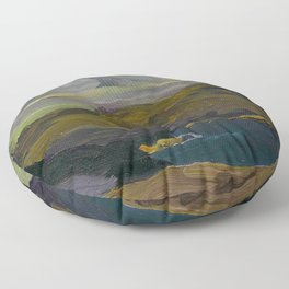 """George Wesley Bellows """"Rocks and coast"""" Floor Pillow"""