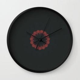 Burgundy Disarray Wall Clock