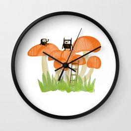 Mushroom Climbers Wall Clock