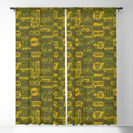 Signs and Slogans Grass Blackout Curtain
