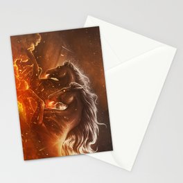 Fire with Horses Stationery Cards