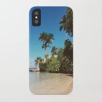 jamaica iPhone & iPod Cases featuring Jamaica palm trees by Samantha Lena Photography