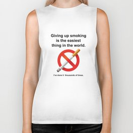 Giving Up Smoking Biker Tank