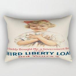 Vintage poster - Third Liberty Loan Rectangular Pillow