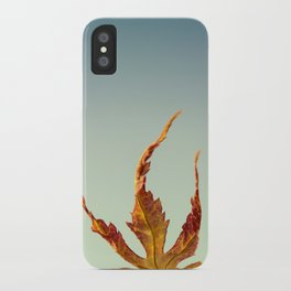 Acer Palmatum Leaf iPhone Case