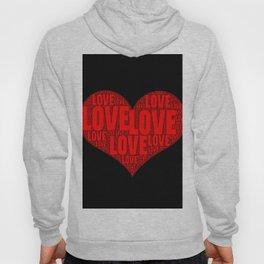 Heart shape with text love inside Hoody