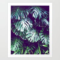 palms Art Prints featuring PALMS by Sorbetedelimon