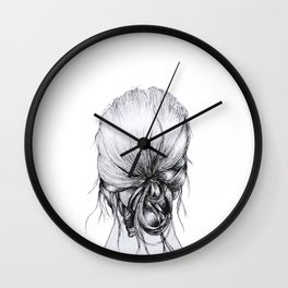 Messy Bun Wall Clock