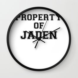 Property of JADEN Wall Clock