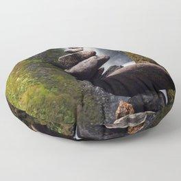 Stone Carin, Oneonta Falls, Oneonta Gorge, Oregon Floor Pillow