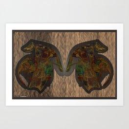 Frakblot Snout Art Print