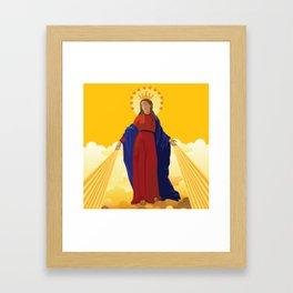 Mary Queen of Heaven Framed Art Print