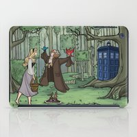 hallion iPad Cases featuring Visions are Seldom all They Seem by Karen Hallion Illustrations