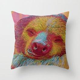 Popular Animals - sleeping Sloth Throw Pillow