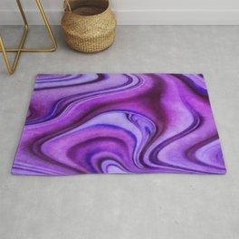 Violet wavy abstract Rug
