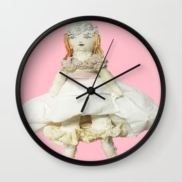 Annabelle Apricot Doll Wall Clock