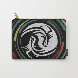 Geometric Dragons Yin Yang Carry-All Pouch
