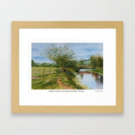 Constable Country. River Stour between Denham and Flatford Mill. Painted by Gordon Joy. Framed Art Print