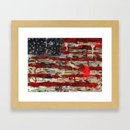 One Stripe For Good Luck Framed Art Print