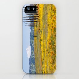 Golden Fields of Flowers iPhone Case