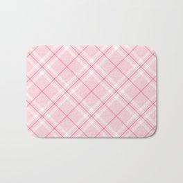Blush Pink Plaid Bath Mat