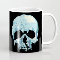 silent Mugs featuring Silent Wave by Huebucket
