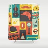 sherlock Shower Curtains featuring Sherlock by Ariel Wilson