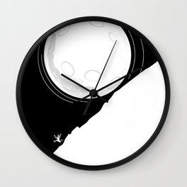 Runing moon Wall Clock