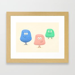 Gum Drops Set  Framed Art Print