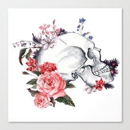 Roses Skull - Death's head Canvas Print