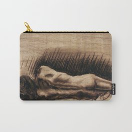 Portrait Of A Back Carry-All Pouch