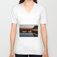florence V-neck T-shirts featuring Florence  by AntWoman