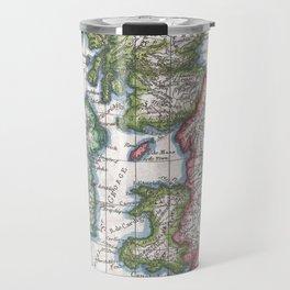Vintage Map of British Isles (1780) Travel Mug