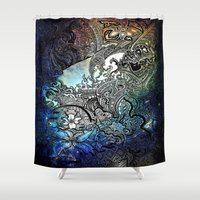 swim Shower Curtains featuring Swim by Jack Graves III