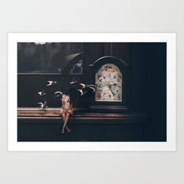 Time Flies by Omerika Art Print