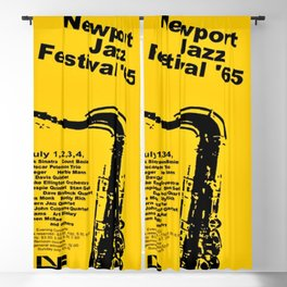 Vintage 1965 Newport, R.I Jazz Festival Advertisement Poster Blackout Curtain