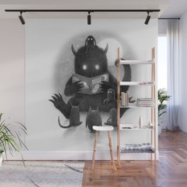 Story Time (black and white option) Wall Mural