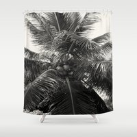 coconut wishes Shower Curtains featuring Coconut! by Chandon Photography