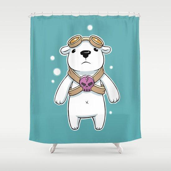 Polar Pilot Shower Curtain