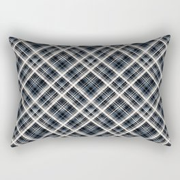 Squares and rectangles under the slope, checkered pattern. Rectangular Pillow