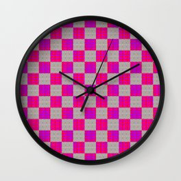 Checker Out Wall Clock