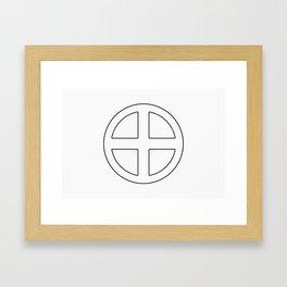 Shimazu Clan · Black Mon · Outlined Framed Art Print