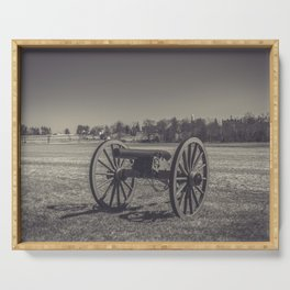 Artillery Placement Gettysburg National Military Park Pennsylvania Civil War Battlefield  Serving Tray