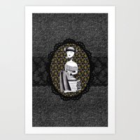 literary Art Prints featuring Literary girl - La littéraire by Andi Lee artworks